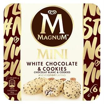 Magnum Mini White Chocolate & Cookies (boîte de 6)