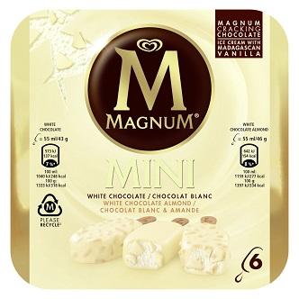 Magnum Mini White Chocolate & Almond (boîte de 6)