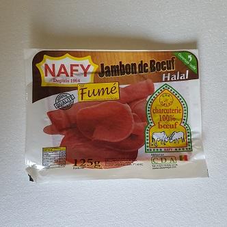 Jambon de Bœuf Fumé Nafy Halal - 100g