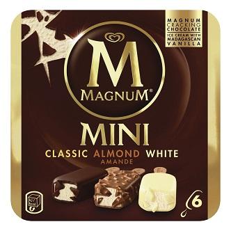 Magnum Mini Classic/Almond/White (boîte de 6)