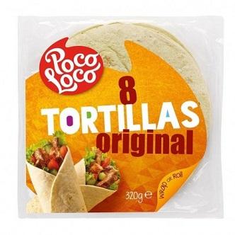 Tortillas Original Pain Poco Loco - 8 Pièces