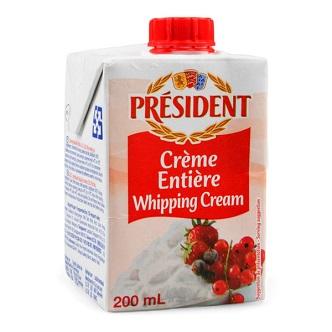 Crème Entière Président - 200ml