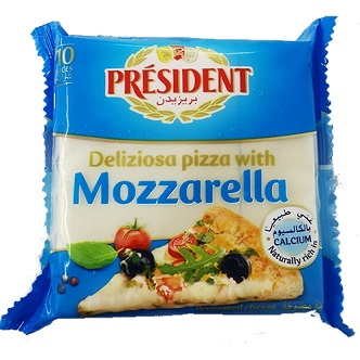 Mozzarella en tranche Président - 200g