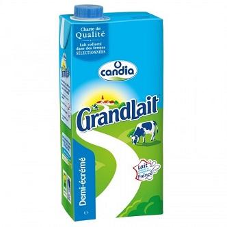 Lait demi-écrémé GranLait - 50cl