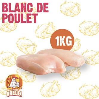 Blanc de poulet Les Poulets OBELIX - 1kg