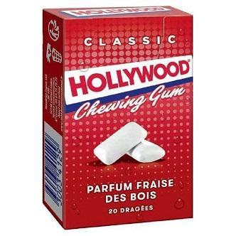 Hollywood Fraise 20 dragées - 28g