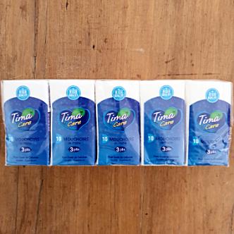 Mouchoirs de Poche Tima - 10 Paquets