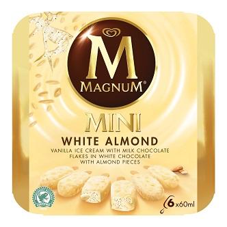Magnum Mini White/Almond (boîte de 6)