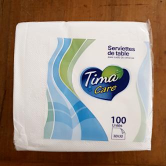 Serviettes de Table Tima - 100 Pièces